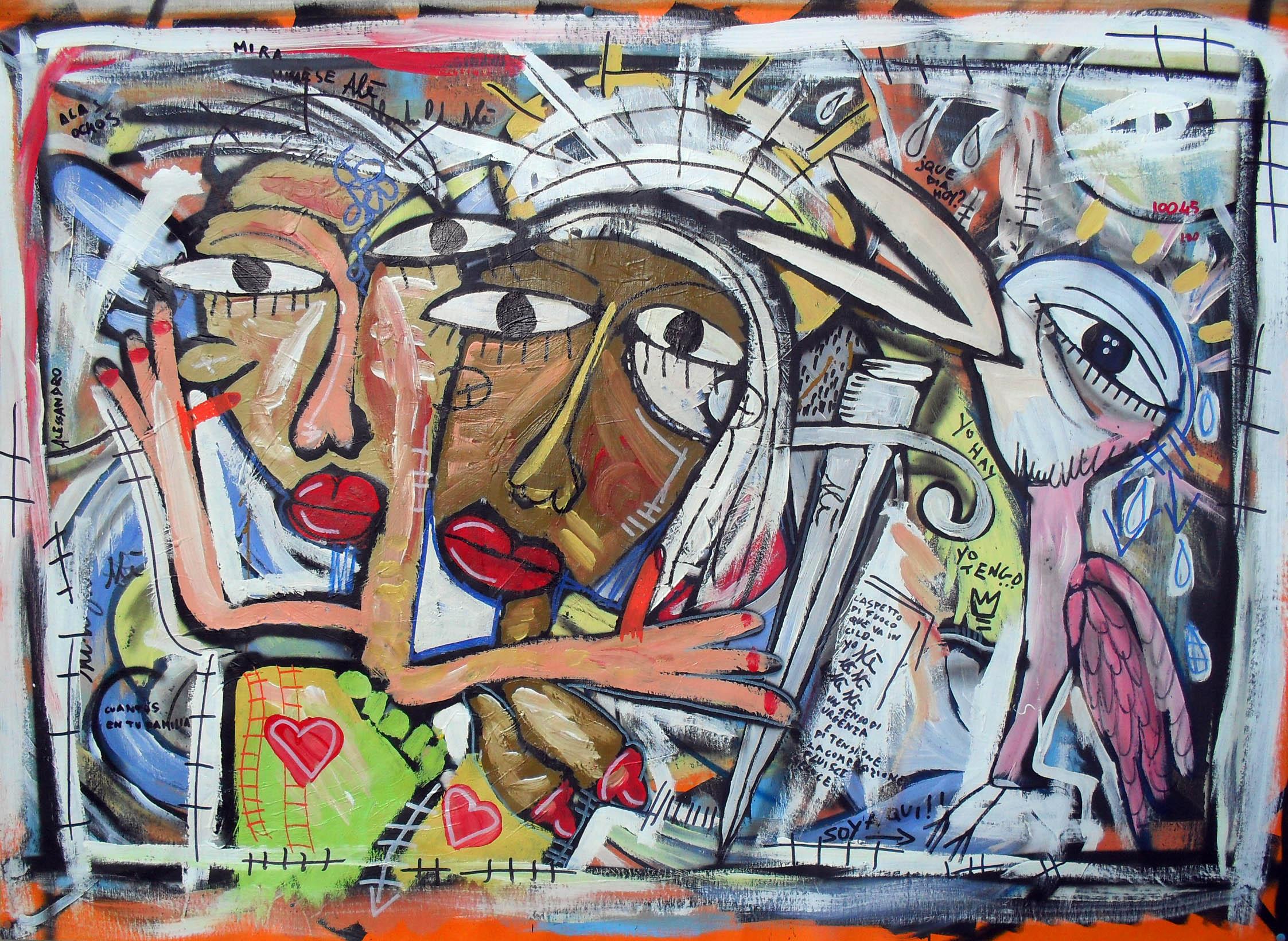 Esposizione quadri moderni dell 39 artista alessandro for Quadri contemporanei