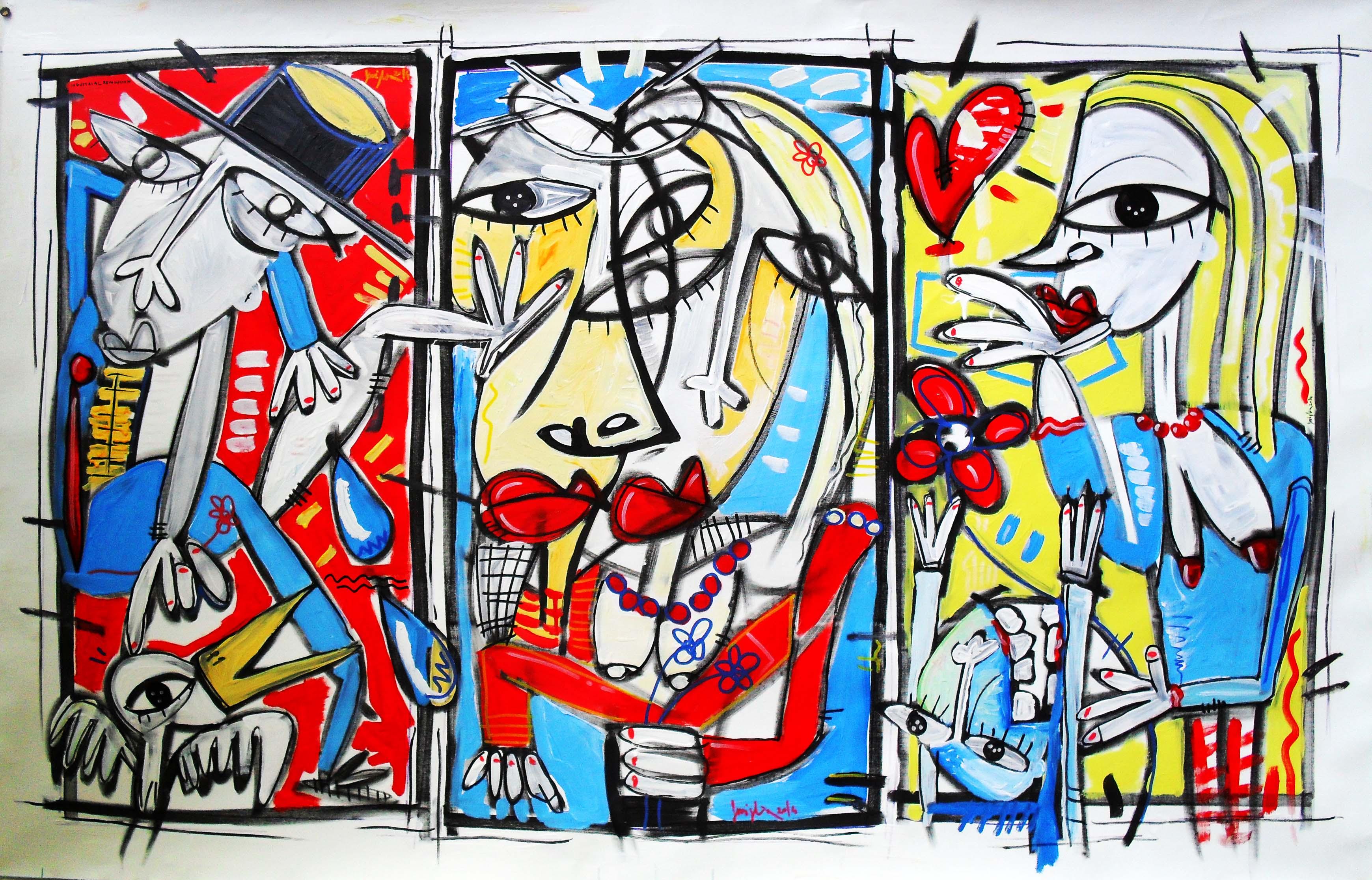 Esposizione quadri moderni dell 39 artista alessandro for Quadri arte contemporanea