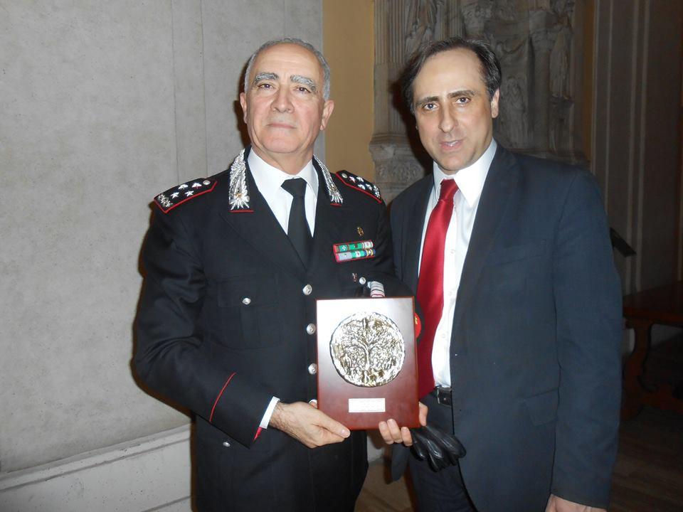Il generale Tullio Del Sette e Antonello De Pierro