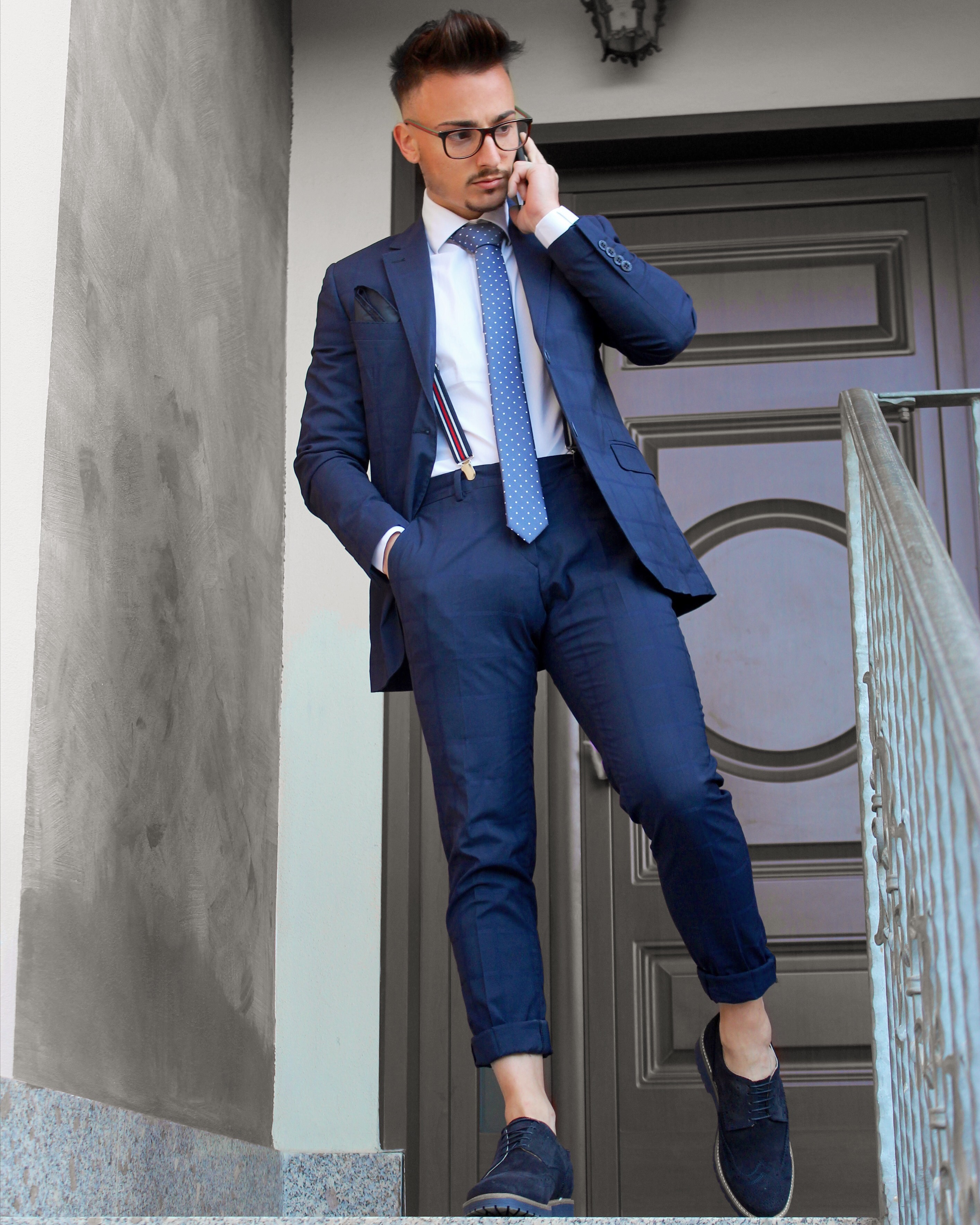 6529354834 Da Giovanili Blu Eleganti Uomo – Vestiti Cerimonia 9eEWID2HY