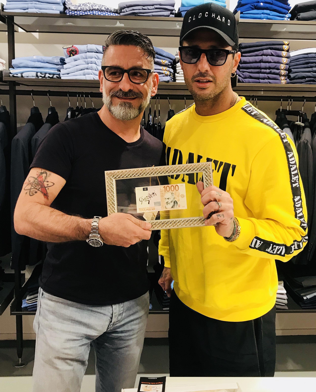 Corona con l'artista Giorgetti