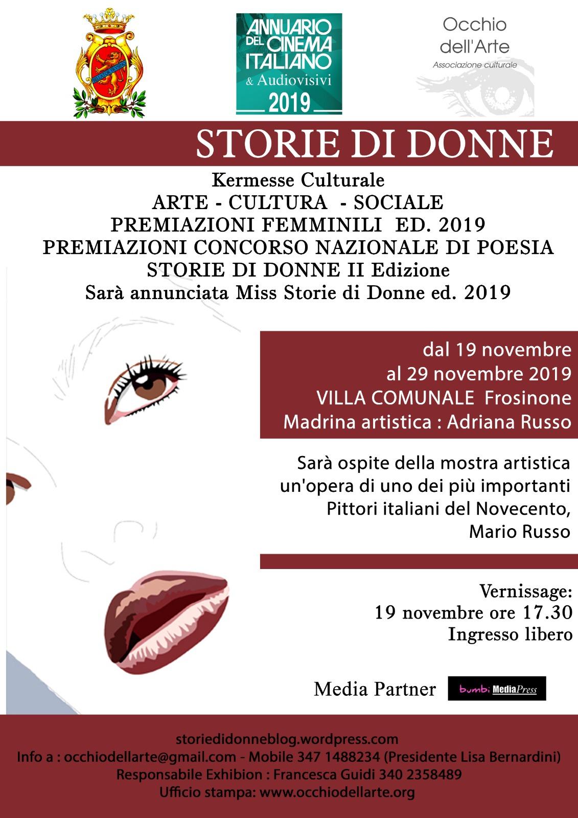 """Impresa In Un Giorno Frosinone a frosinone la quinta edizione di """"storie di donne"""" - cultura"""