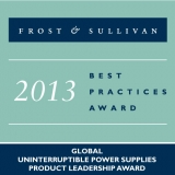 "Riello UPS riceve il ""Global Uninterruptible Power Supplies Product Leadership Award 2013"" di Frost&Sullivan"