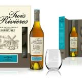 Il Rhum Agricolo Trois Rivières in confezione regalo.