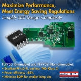 l nuovi driver per lampade a LED di Fairchild Semiconductor sono compatibili con i dimmer analogici, con quelli basati su TRIAC e con le lampade senza dimmer