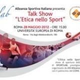 """ASI presenta il Talk Show """"L'Etica nello Sport"""""""