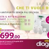 Offerta Diagral Wave, il tuo antifurto senza fili di casa al 55% di sconto!