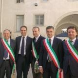 MARIGLIANELLA IL SINDACO FELICE DI MAIOLO AL VENTENNALE DEL TRIBUNALE DI NOLA.