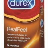 DUREX LANCIA REAL FEEL Il profilattico di ultima generazione per un'elevata sensazione  naturale di contatto sulla pelle