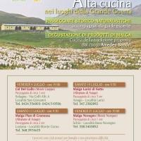ALTA CUCINA NEI LUOGHI DELLA GRANDE GUERRA