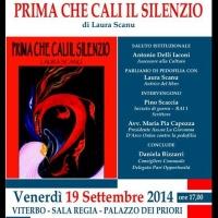 Prima che cali il silenzio di Laura Scanu: presentazione a Viterbo il 19 settembre alle ore 17