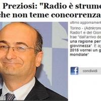 Preziosi direttore Radio1: