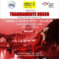 A Sansepolcro va in scena Tragicamente rosso, monologo contro la violenza sulle donne