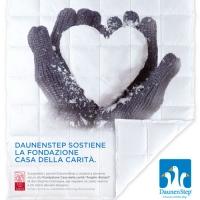 """DaunenStep, in collaborazione con la Fondazione Casa della Carità """"Angelo Abriani"""" di Milano, dona un caldo inverno alle persone bisognose"""