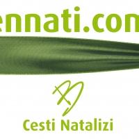 Bennati promuove il suo sito e-commerce di cesti natalizi con un cartellone pubblicitario in zona Certosa - Milano