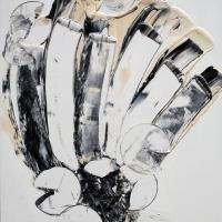 """Da """"Mistero"""" su Italia Uno alla """"Milano Art Gallery"""" Andrea Pinketts presente all'esposizione dell'artista Daniela Grifoni"""