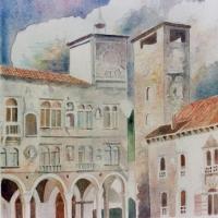 Luciano Tonello partecipa alla prestigiosa mostra collettiva presso il Municipio di Asolo con la presenza di Vittorio Sgarbi