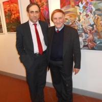 Antonello De Pierro ospite al vernissage di Marcello Ciabatti al Quirinale