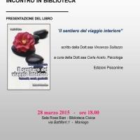"""""""Il sentiero del viaggio interiore"""" di Vincenza Sollazzo - Edizioni Psiconline alla Biblioteca Civica di Maniago"""