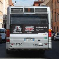 Pubblicità su autobus Roma last minute