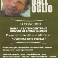 """Pietro Dall'Oglio in concerto al Centrale di Roma per presentare il nuovo album """"L'anima che parla"""" - Roma"""