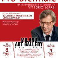 Vittorio Sgarbi: ospite speciale alla prestigiosa mostra curata da Milano Art Gallery Pavilion che vedrà partecipe la surrealista Stefania Pellegata