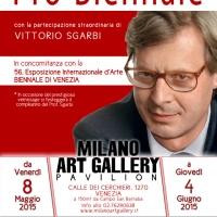 """""""Pro Biennale"""": la mostra alla Milano Art Gallery di Venezia, inaugurata da Sgarbi, a cui partecipa la famosa Anna Somensari"""