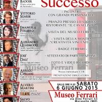 """Museo Ferrari: Vittorio Sgarbi, Alessandro Quasimodo, Alviero Martini e molti altri per un coinvolgente workshop a cura di """"Spoleto Arte"""""""