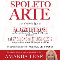 """""""Spoleto Arte"""": Alla grande mostra a cura di Vittorio Sgarbi in esposizione le opere di Amanda Lear"""
