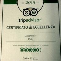 IL PINK RICEVE IL PRESTIGIOSO CERTIFICATO DI ECCELLENZA DA 'TRIP ADVISOR'