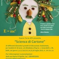 """""""Scienza di Cartone"""", educazione ambientale in Mediateca Reg.le, Bari, progetto di Essere Terra APS."""