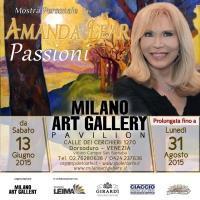 """Venezia: Milano Art Gallery verrà prolungata la mostra pittorica """"Passioni"""" di Amanda Lear fino al 31 agosto"""