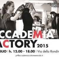 Accademia Costume & Moda: ad Accademia Factory il nuovo percorso Accademia Media, Film & Arti Visive