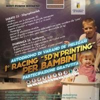 "1° racing ""3D'n'printing"" per bambini 25-26 luglio a Varano (PR)"