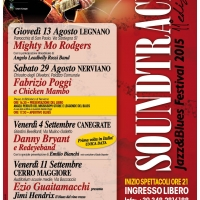 Soundtracks jazz & blues Festival 2015  XI EDIZIONE  dal 13 agosto all' 11 settembre 2015