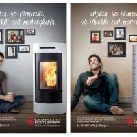 """Pubblimarket2 firma la nuova campagna di Caminetti Montegrappa. """"Da 40 anni una di famiglia""""."""