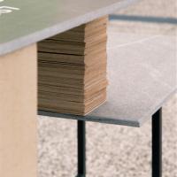Matrimonio tra Pietra Piasentina e design: il Consorzio friulano si presenta a Marmomacc con un tavolo icona disegnato da Fabrica
