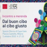 """Merenda e musica ad Expogate, in centro a Milano nell'incontro """"Dal buon cibo al cibo giusto"""", lunedì 5 ottobre 2015"""