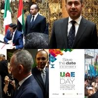 Il National Day degli Emirati Arabi dentro Expo 2015: una serie di celebrazioni iniziata con la firma di diversi protocolli e con la presenza di ministri, ambasciatori e della IICUAE