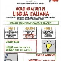 Corsi gratuiti di lingua italiana per stranieri: aperte le iscrizioni