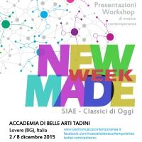 New MADE Week - Musica contemporanea all'Accademia di Belle Arti Tadini di Lovere