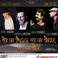 Musica e cabaret per la pace al Teatro Wagner con Emergency