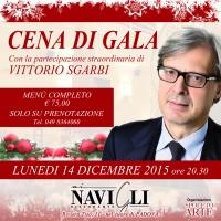 Il rinomato ristorante Ai Navigli ospiterà una cena con la partecipazione straordinaria del Prof. Vittorio Sgarbi