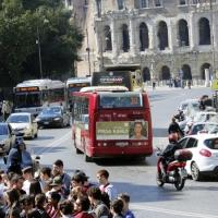 La pubblicità autobus e su tram