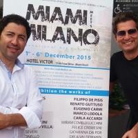 Miami Meets Milano: gli apprezzamenti del console Belelli, di Bobo Vieri ed Enrico Papi in visita alla mostra