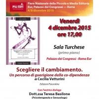 Scegliere il cambiamento di Cecilia Vetturini - Edizioni Psiconline in anteprima assoluta a Più libri più liberi
