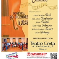 Mozart e Vivaldi per Emergency al Teatro Creta