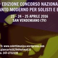 Seconda edizione del concorso di canto moderno per solisti e gruppi di San Vendemiano (TV)