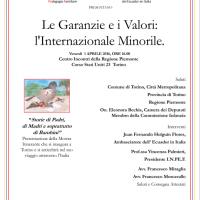 """Convegno  """"Le Garanzie e i Valori: l'Internazionale Minorile"""""""