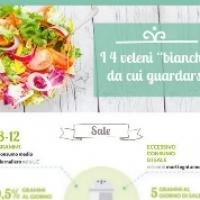 """Alimentazione: i quattro """"veleni bianchi"""" da cui guardarsi nella nuova infografica Dolce Vita"""